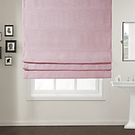 TWOPAGES® Modern Pink Solid Roman Shade