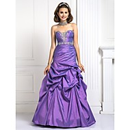 Prom / Formal Evening / Quinceanera / Sweet 16 Dress - Lilac Plus Sizes / Petite Ball Gown / A-line / Princess Strapless Floor-length