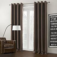 (Deux panneaux œillet du haut) solide brun rideau occultant