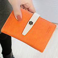 Fashion Dull polsk Contrast Color Medium Wallet