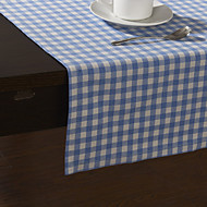 Country Style Bleu motif de vérification des Chemins de table