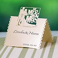 """cartes de place et les titulaires """"mr& mrs """"carte d'endroit - un ensemble de 12 (plus de couleurs)"""