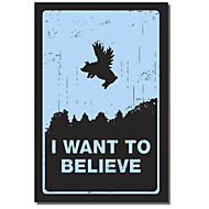 Sträckta kanvas Words Jag vill tro genom Budi Satria Kwan