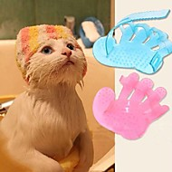 Cat Dog Grooming Brush Baths Pet Grooming Supplies Massage Random Colour