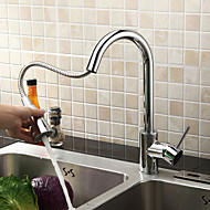 Sprinkle® Kitchen Faucets Centerset / Pull out with Chrome Single Handle One Hole