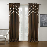 TWOPAGES® Two Panels  Solid Brown Modern Blackout Curtain
