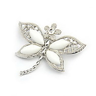 Lovely Alloy With Rhinestone/Resin Dragonfly Shaped Brooch(Random Color Delivery)