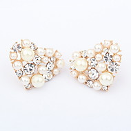 진주 / 모조 다이아몬드 심혼은 여자의 귀걸이 절묘한 합금
