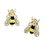 Korean version of the super cute little bee glazed diamond stud earrings fashion sweet earrings E61