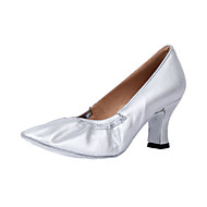 Customizable Women's Dance Shoes Modern/Ballroom Leatherette Customized Heel Silver