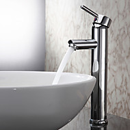 Sprinkle® by Lightinthebox - Single Handle Chrome Finished Solid Brass Bathroom Sink Faucet