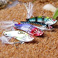1 pcs Hard Bait / Metal Bait / Vibration/VIB / Fishing Lures Metal Bait / Vibration/VIB / Hard Bait Purple / Silver / Blue / Random Colors