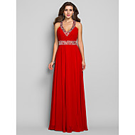TS Couture® Formal Evening / Military Ball / Prom Dress - Ruby Plus Sizes / Petite Sheath/Column V-neck Floor-length Chiffon