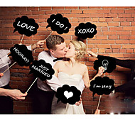 Wedding Décor Photo Booth Props on a  Sticker-Set of 6(Including Chalk)