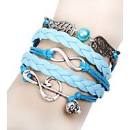 läder charm armband baoguang®music anteckningar och oändligheten charm handgjorda läderarmband smycken