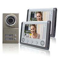 "Night Vision 7 ""video deurtelefoon voor Neighbours 2 Families Apartments Goedkope Set"