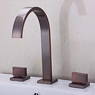 עתיק אמבט רומאי מפל with  שסתום קרמי שתי ידיות שלושה חורים for  Oil-rubbed Bronze , ברז לאמבטיה
