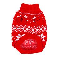Hunde Pullover Rot Hundekleidung Winter Schneeflocke Weihnachten / Neujahr
