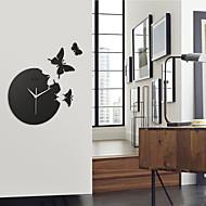 """Acrylique 14.3 """"papillon horloge de mur muette de mode"""