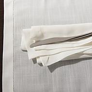 1 Blanc Mélange Poly/Coton Carré Serviettes