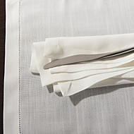1 White Poly / Cotton Blend Square Napkin