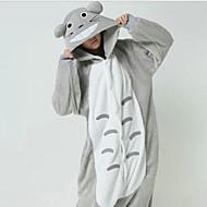 Chubby Totoro Grigio Polar Fleece Kigurumi pigiami degli indumenti da notte del fumetto animale del costume di Halloween