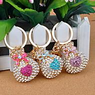 lyxig klar opal pengar plånbok metall nyckelring (fler färger)