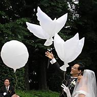Hochzeit Dekor weiß Friedenstaube Ballon - Set aus 6