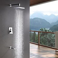 Sprinkle® Shower Faucets  ,  Contemporary  with  Chrome Single Handle Three Holes  ,  Feature  for Wall Mount
