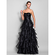 TS Couture® Formal Evening / Prom / Military Ball Dress - Black Plus Sizes / Petite A-line Sweetheart Floor-length Organza