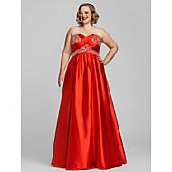 Black Tie Gala Dress - Plus Size / Petite A-line / Princess Strapless / Sweetheart Floor-length Charmeuse