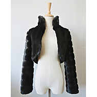 Party/Evening / Casual Faux Fur Coats/Jackets Long Sleeve Fur Wraps