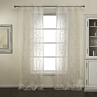TWOPAGES® Two Panels Elegent Sequin Embrodiery Sheer Curtains Drapes