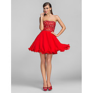 Cocktail Party/Prom Dress - Ruby Plus Sizes A-line/Princess Strapless Short/Mini Chiffon