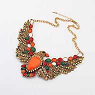 Fashion Alloy With Rhinestone Hawk Women's Necklace