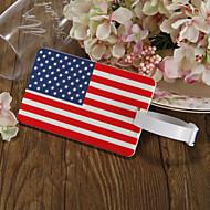 Favors etiqueta del equipaje - bandera americana