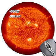Personalized Round Fireball Mouse Pad