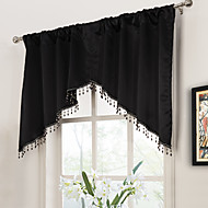 twopages® moderne sort solid swag Valance