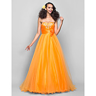 Prom/Formal Evening Dress - Orange Misses/Pear/Inverted Triangle/Hourglass/Apple/Petite/Plus Sizes A-line Sweetheart Sweep/Brush Train