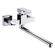Wall Mounted Single Handle Two Holes with Chrome Kitchen faucet