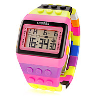 Женские Спортивные часы электронные часы LCD Календарь Секундомер тревога Цифровой Plastic Группа Разноцветный