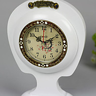 "8""Retro Type White Analog Tabletop Clock"