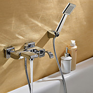 Sprinkle® Contemporary Chrome Finish Bathtub Faucet (Handheld + Rainfall)