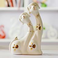 "7.75""Couple Dog Ceramic Collectibles"