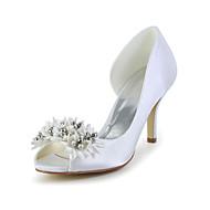 Women's Wedding Shoes Heels/Peep Toe Heels Wedding Ivory/White
