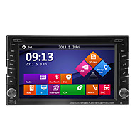 "6.2 ""2DIN LCD touch screen in-dash bil dvd-afspiller med gps, bluetooth, ipod, ATV"