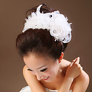 Tulle/Lace Flowers with Imitation Pearl Wedding Headpieces