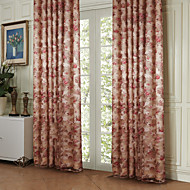 TWOPAGES® Two Panels  Country Bloom Peony Energy Saving Curtain Drape