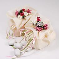 Garza Favor Borsa con fiore e nastro - Set di 12