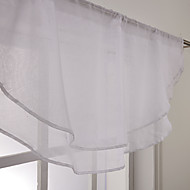 "Elegant White Waterfall Valance 25Wx31 ""L (One Piece)"